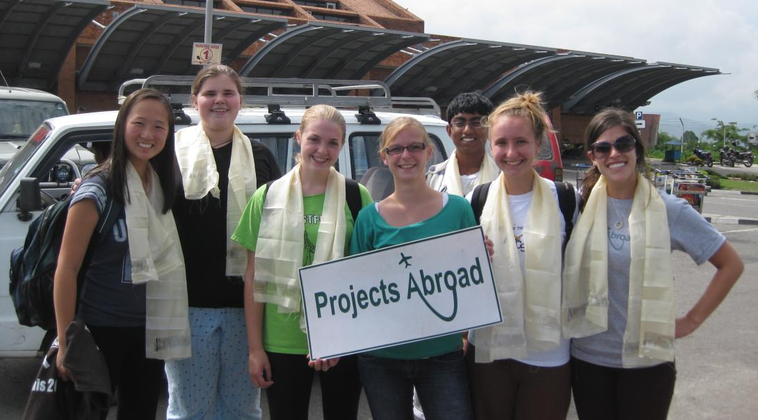Volunteers get picked up at the airport by Projects Abroad staff after arriving in Nepal